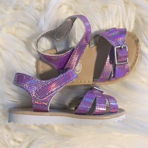 Children's Place Shoes - Iridescent Purple Buckle & Velcro Sandal